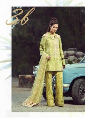 Saffron By Imperial Textile Embroidered Lawn Unstitched 3 Piece Suit IM17S 3B