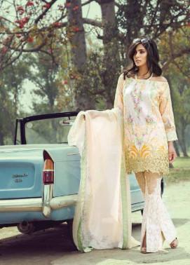Saffron By Imperial Textile Embroidered Lawn Unstitched 3 Piece Suit IM17S 4A