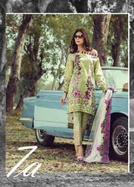 Saffron By Imperial Textile Embroidered Lawn Unstitched 3 Piece Suit IM17S 7A