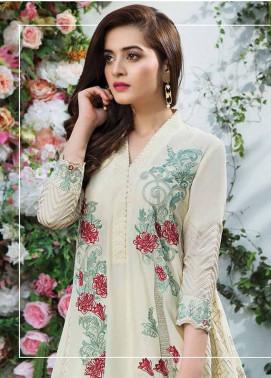 Imrozia Embroidered Lawn Unstitched 3 Piece Suit IM18L 09 - Spring / Summer Collection