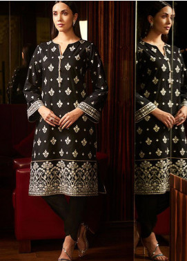 Image Embroidered Cotton Stitched Kurtis Cosmic P-819