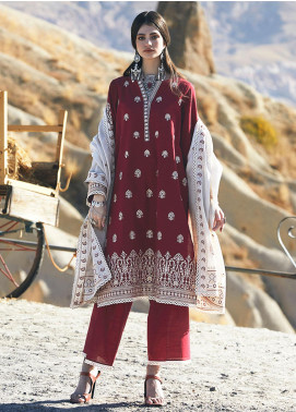 Image Embroidered Khaddar Unstitched 3 Piece Suit IMG20W 7 Miray - Winter Collection