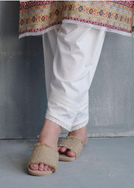 Image Cotton Stitched Shalwar Embellished with Laces  IMG19B T-265 Lace Up