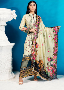 Iman by Regalia Textiles Embroidered Lawn Unstitched 3 Piece Suit RG20-IE2 1A - Summer Collection