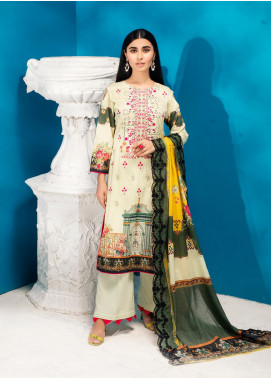 Iman by Regalia Textiles Embroidered Lawn Unstitched 3 Piece Suit RG20-IE2 2A - Summer Collection