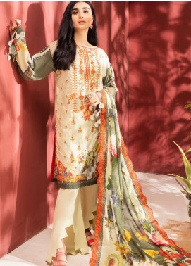 Iman by Regalia Textiles Embroidered Lawn Unstitched 3 Piece Suit RG20-IE2 5 - Summer Collection