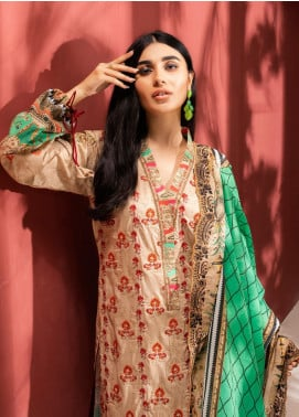 Iman by Regalia Textiles Embroidered Lawn Unstitched 3 Piece Suit RG20-IE2 6 - Summer Collection