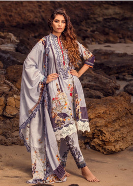 Regalia Textiles Embroidered Lawn Unstitched 3 Piece Suit RG20IE 1-B - Summer Collection
