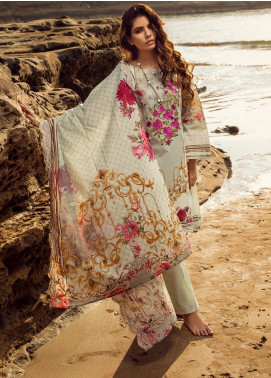 Regalia Textiles Embroidered Lawn Unstitched 3 Piece Suit RG20IE 3-A - Summer Collection