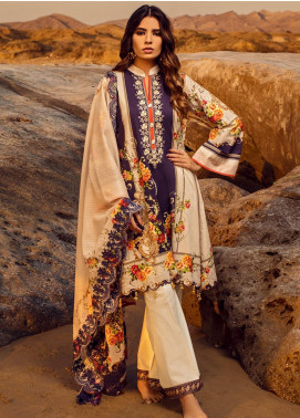 Regalia Textiles Embroidered Lawn Unstitched 3 Piece Suit RG20IE 7 - Summer Collection