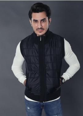 Sanaulla Exclusive Range Parachute Sleeveless Jackets for Men -  19-3307-2 Black