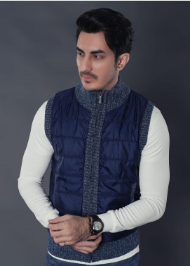 Sanaulla Exclusive Range Parachute Sleeveless Jackets for Men -  19-3307 Blue
