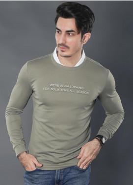Sanaulla Exclusive Range Jersey Casual Men Full Sleeves -  19-9124 Green