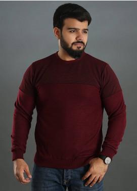 Sanaulla Exclusive Range Jersey Round Neck T-Shirts for Men - Maroon SAM18TS 07
