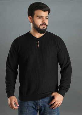 Sanaulla Exclusive Range Jersey V-Neck T-Shirts for Men - Black SAM18TS 11