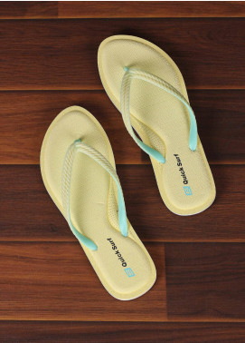 Rubber Ladies Flip Flops 2577 Yellow