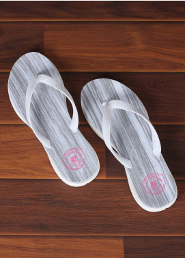 Rubber Flip Flops for Ladies 2587 White
