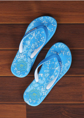 Rubber Flip Flops for Ladies 2595 Blue