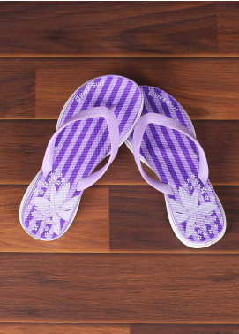 Rubber Flip Flops for Ladies 2810 Purple