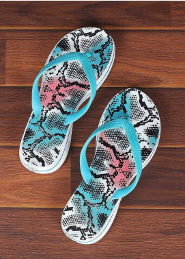 Rubber Flip Flops for Ladies 2811 Sky Blue