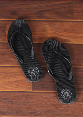 Rubber Ladies Flip Flops 2820 Black