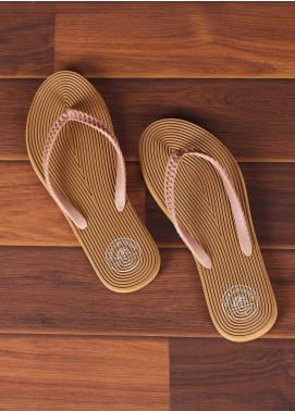 Rubber Flip Flops for Ladies 2820 Brown
