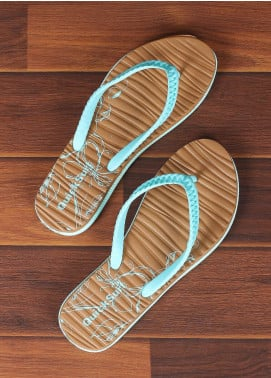 Rubber Ladies Flip Flops 2821 Green