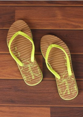 Rubber Flip Flops for Ladies 2821 Yellow