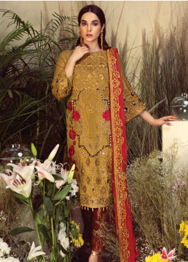 Orabelle by Imrozia Embroidered Missouri Unstitched 3 Piece Suit SEI190 02 Saffron Dream - Luxury Collection