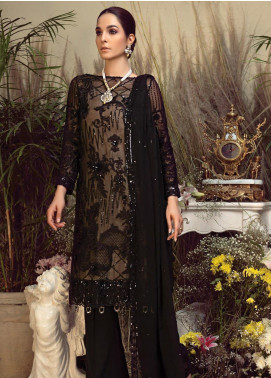 Orabelle by Imrozia Embroidered Chiffon Unstitched 3 Piece Suit SEI190 09 Wood Odour - Luxury Collection