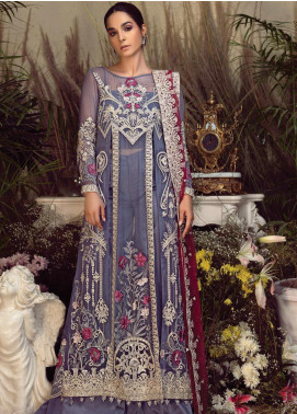 Orabelle by Imrozia Embroidered Chiffon Unstitched 3 Piece Suit SEI190 10 Vivid Story - Luxury Collection