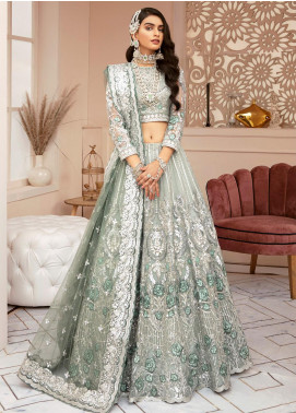 Imrozia Brides Embroidered Net Unstitched 3 Piece Suit IMP20B 01 Rhino Charisma - Bridal Collection