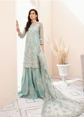 Imrozia Brides Embroidered Organza Unstitched 3 Piece Suit IMP20B 06 Aquatic Romance - Bridal Collection