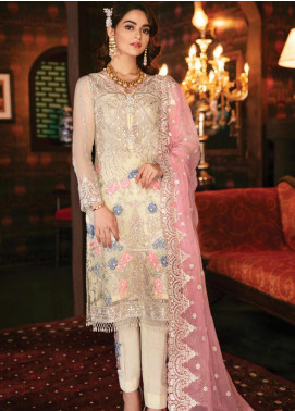 Imrozia by Serene Premium Embroidered Chiffon Unstitched 3 Piece Suit IMP20SL 104 Spring Fusion - Luxury Collection