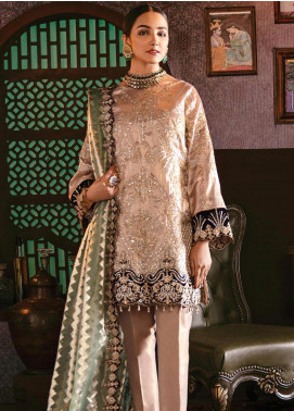 Imrozia by Serene Premium Embroidered Organza Unstitched 3 Piece Suit IMP20SL 109 Galore Gold - Luxury Collection