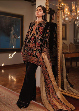 Inaara by AIK Atelier Embroidered Velvet Unstitched 3 Piece Suit AIK19V 3 - Winter Collection