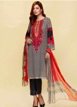 Infinity by Riaz Arts Embroidered Lawn Unstitched 3 Piece Suit IRA20L 14 C - Summer Collection