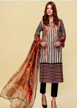 Infinity by Riaz Arts Embroidered Lawn Unstitched 3 Piece Suit IRA20L 15 A - Summer Collection