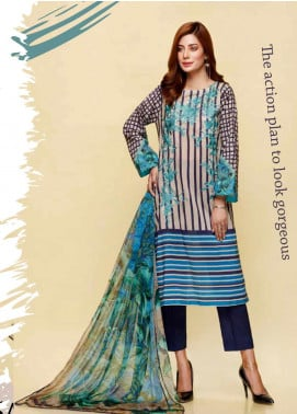Infinity by Riaz Arts Embroidered Lawn Unstitched 3 Piece Suit IRA20L 15 B - Summer Collection