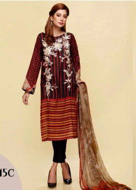 Infinity by Riaz Arts Embroidered Lawn Unstitched 3 Piece Suit IRA20L 15 C - Summer Collection