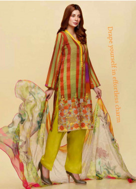 Infinity by Riaz Arts Embroidered Lawn Unstitched 3 Piece Suit IRA20L 17 A - Summer Collection