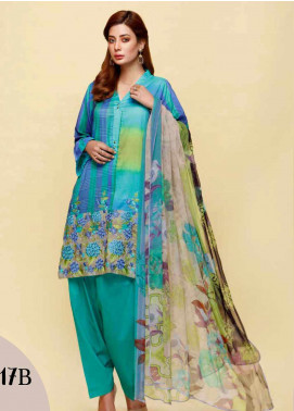 Infinity by Riaz Arts Embroidered Lawn Unstitched 3 Piece Suit IRA20L 17 B - Summer Collection