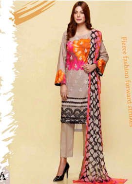 Infinity by Riaz Arts Embroidered Lawn Unstitched 3 Piece Suit IRA20L 18 B - Summer Collection