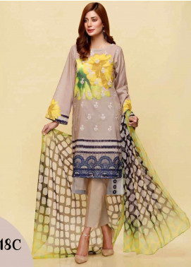 Infinity by Riaz Arts Embroidered Lawn Unstitched 3 Piece Suit IRA20L 18 C - Summer Collection