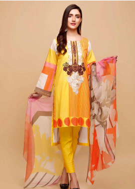 Infinity by Riaz Arts Embroidered Lawn Unstitched 3 Piece Suit IRA20-L5 23C - Summer Collection
