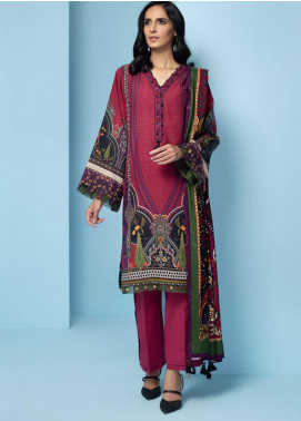 IRIS by Jazmin Embroidered Khaddar Unstitched 3 Piece Suit JZ20IK 05 ZARSA - Winter Collection