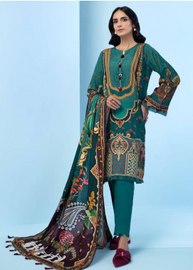 IRIS by Jazmin Embroidered Khaddar Unstitched 3 Piece Suit JZ20IK 06 ZANDER - Winter Collection