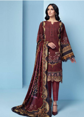 IRIS by Jazmin Embroidered Khaddar Unstitched 3 Piece Suit JZ20IK 07 AVENA - Winter Collection