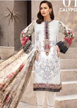 IRIS by Jazmin Embroidered Lawn Unstitched 3 Piece Suit JZ20I 1 - Summer Collection