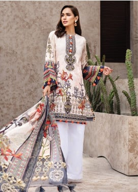 IRIS by Jazmin Embroidered Lawn Unstitched 3 Piece Suit JZ20I 3 - Summer Collection